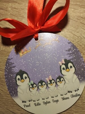 Penguin Family Decoration