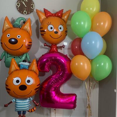 Композиция из воздушных шаров на 2 годика.