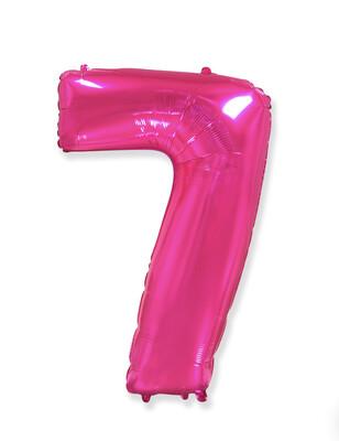 Фольгированный воздушный шар в виде цифры «7» 102 см