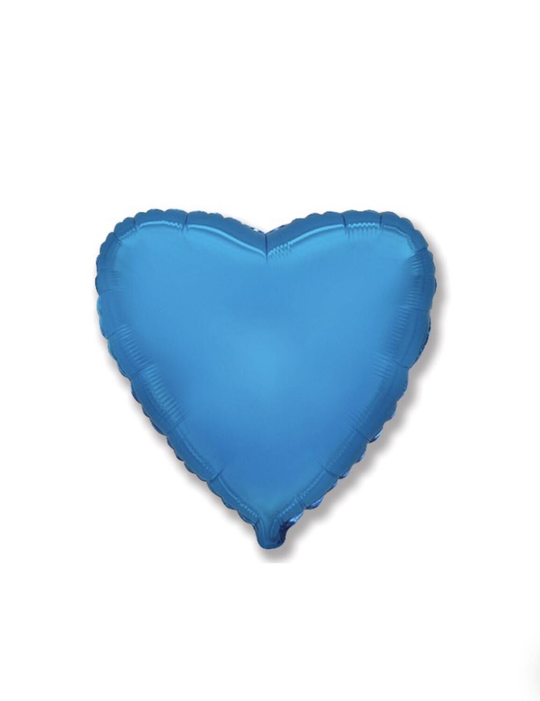 Фольгированный воздушный шар в виде сердца без рисунка 46 см