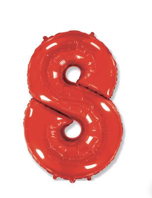 Фольгированный воздушный шар в виде цифры «8» 102 см