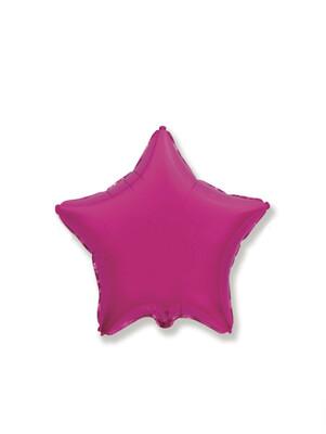 Фольгированный воздушный шар в форме звезды без рисунка 46 см