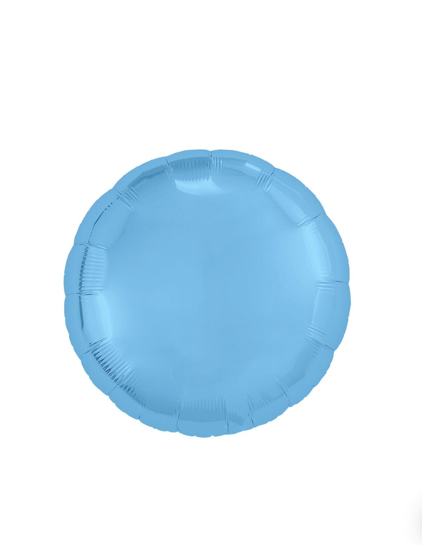 Фольгированный воздушный шар в виде круга без рисунка 76-81 см