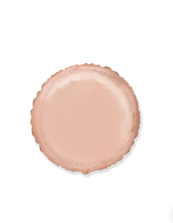 Фольгированный воздушный шар в виде круга без рисунка 46 см