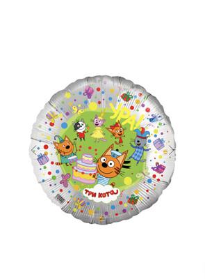 Фольгированные шары с рисунком - звёзды, сердца, круги 46 см