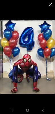 Композиция из воздушных шаров на 4 годика.