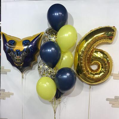Композиция из воздушных шаров на 6 лет.