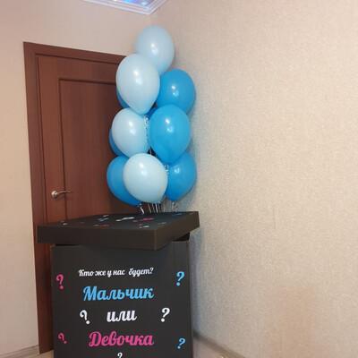 Гендер коробка + фонтан из 10 шаров