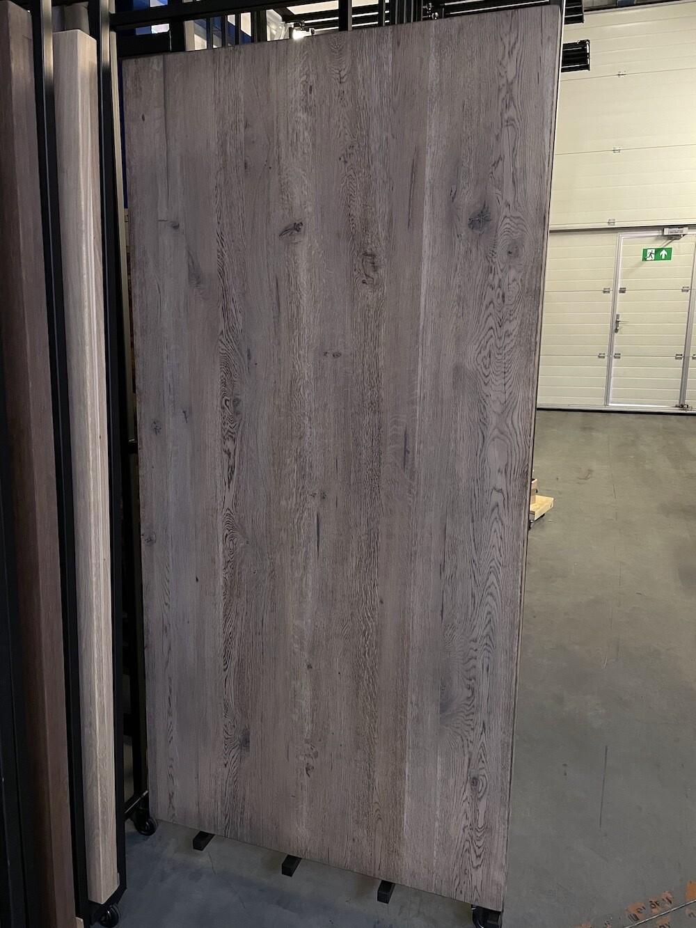 Massief Eiken Tafel H128 (Pole Grey 200x100 cm)
