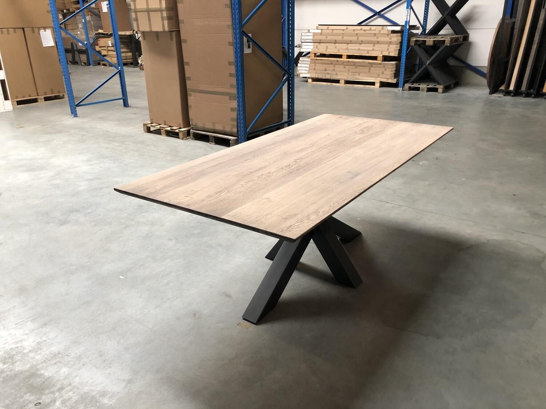 Industriële Massief Eiken Tafel SK3 H114 (3 kleur keuzes 200x100cm)