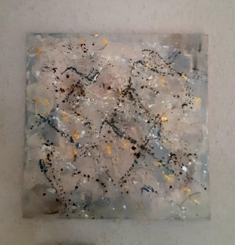 Abstraktes Leinwandbild
