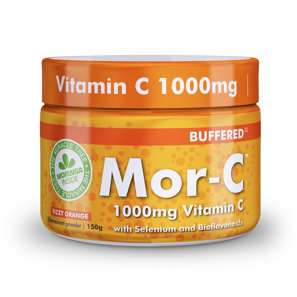 Mor- C 1000 | Fizzy Orange | Effervescent powder | 30 servings