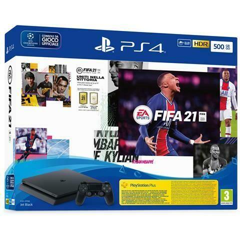 SONY PS4 SLIM 500GB + FIFA 21 + FUT 21 VCH