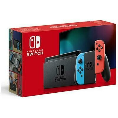 NINTENDO SWITCH BLUE/NEON RED