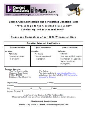 Blues Cruise Scholarship Donation