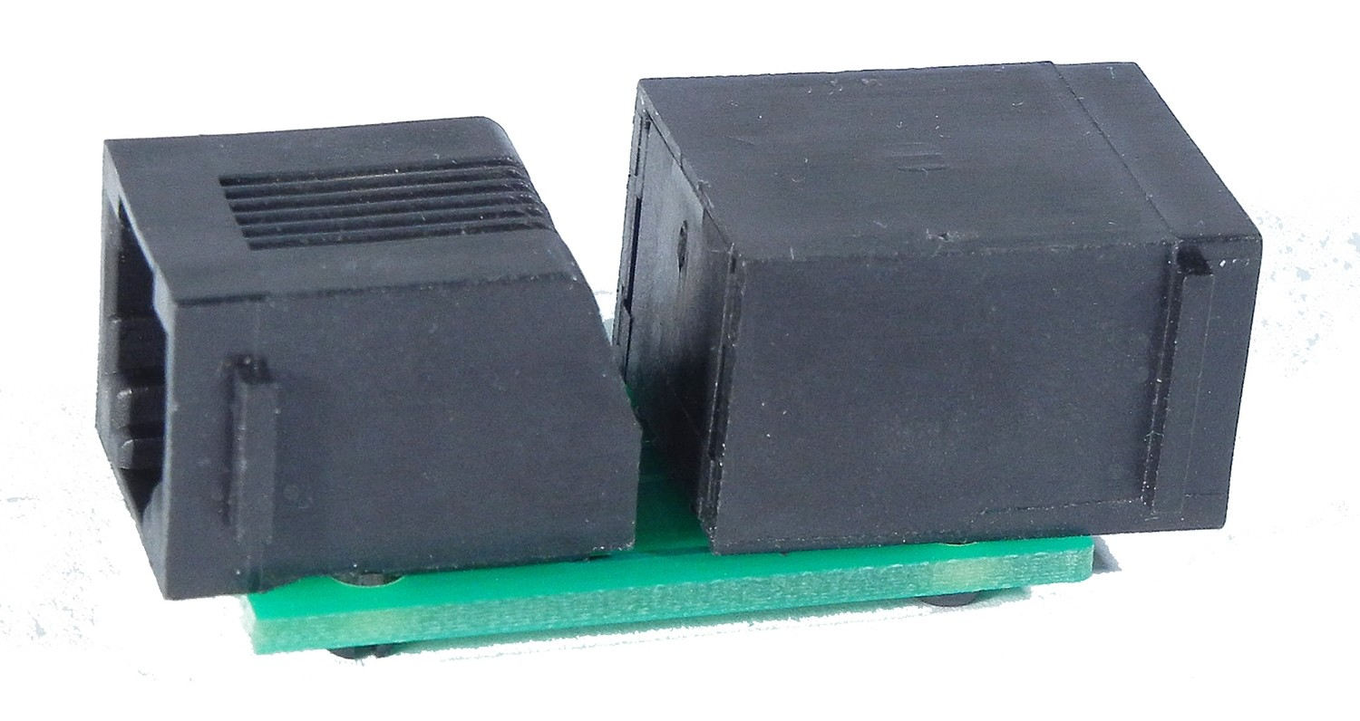 8 wire adapter, converts 6 wire RJ12 cab bus to 8 wire RJ45