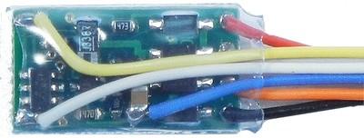 N12SR N-Scale generic decoder, 1 Amp, 4 function