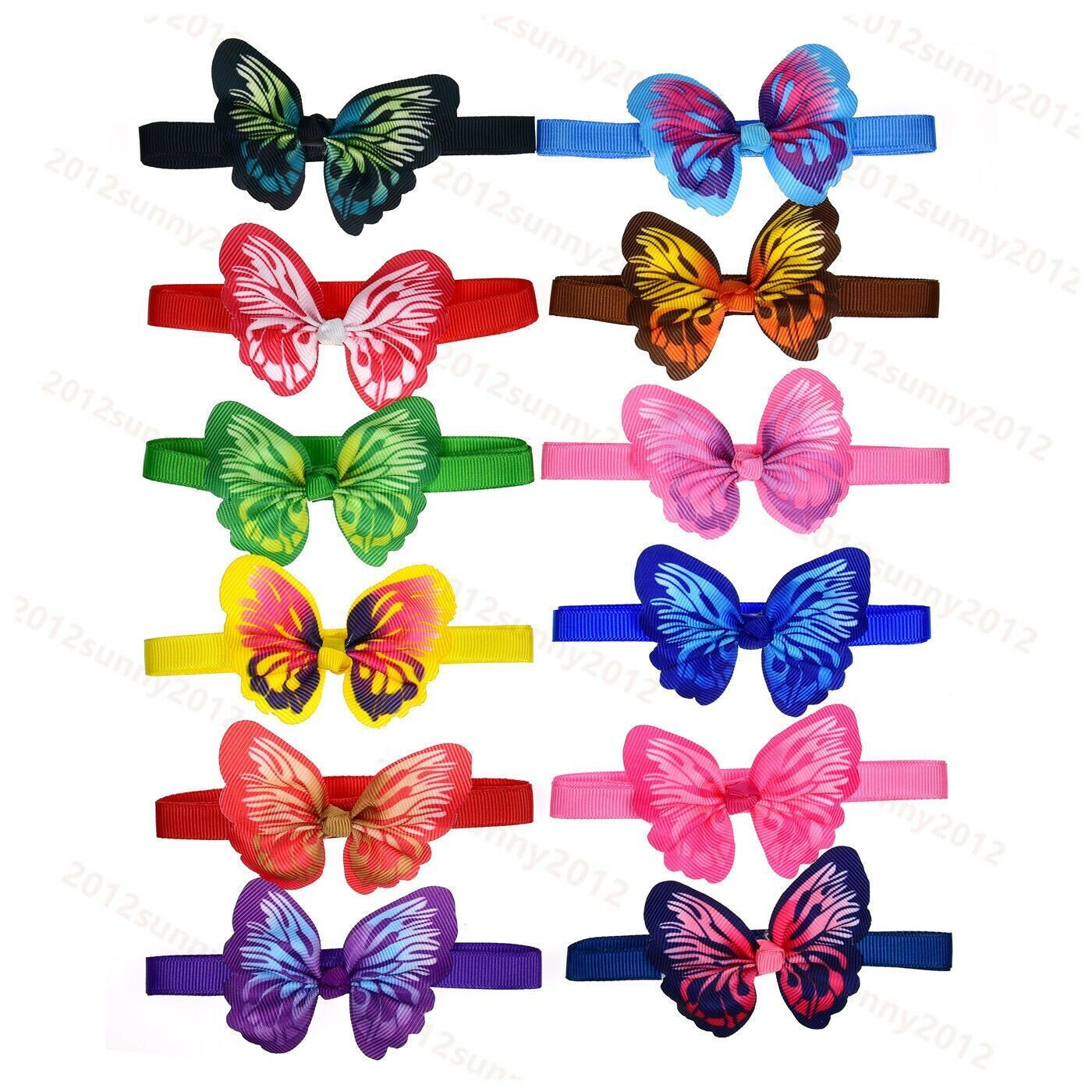 Butterfly Bows on adjustable collars