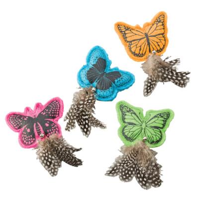 Whiskins Felt Butterfly w/Catnip Cat Toy Assorted