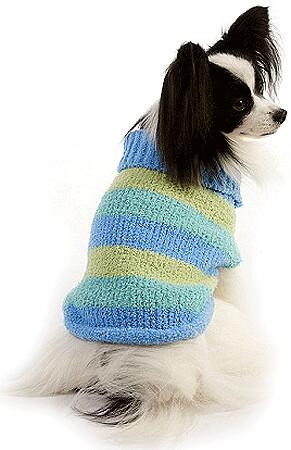 FASHION PET Lookin' Good Stripe Sweater Blue