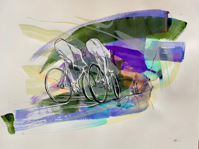 Tour de France silk screen print 15/30 56cm x 76cm.