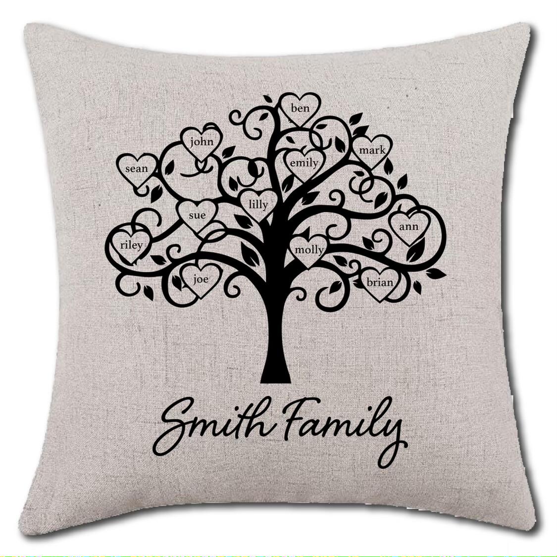 Customized Family Pillow