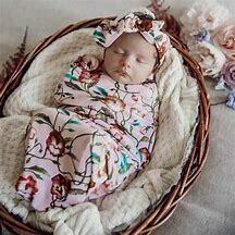 Pink Floral Snuggle Sack and matching headband - Snuggle Hunny Kids