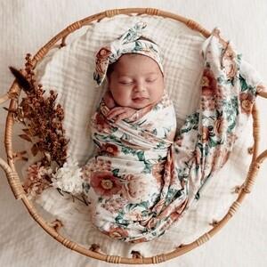 Florence Stretch Cotton Baby Wrap Set- Snuggle Hunny Kids