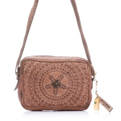 Drifter Leather Crossbody - TAUPE