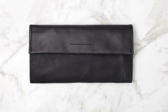 Arlo Leather Waller- BLACK