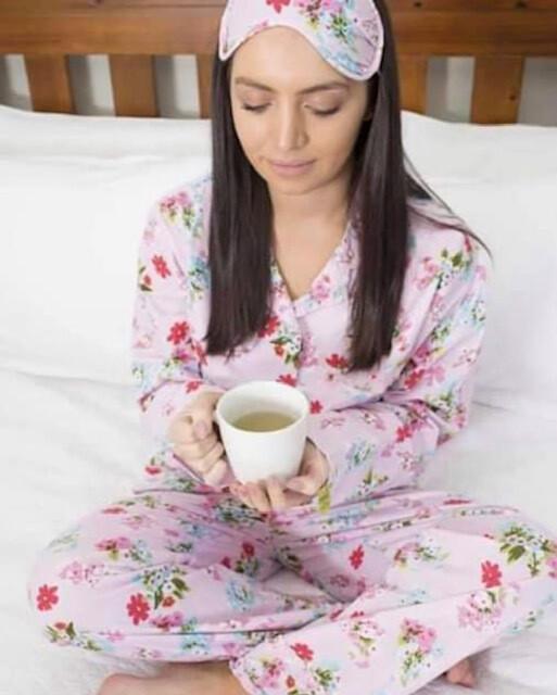 Pink Floral Pyjamas - MEDIUM