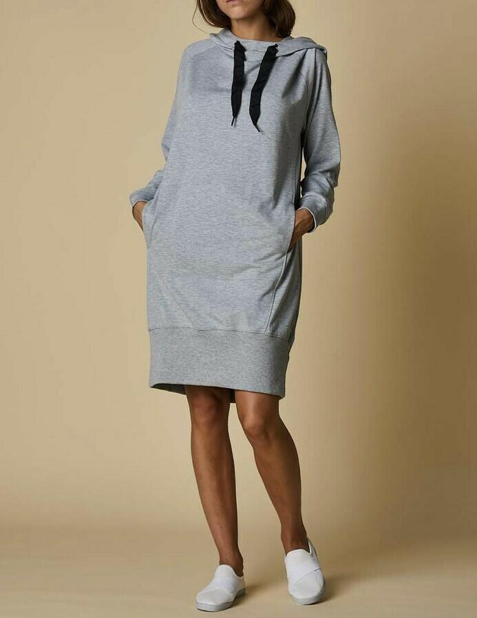 Grey Hoodie Dress- M