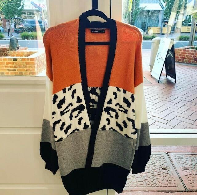 Orange Leopard Cardi