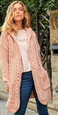 Dusty Pink Hoodie- Free Size