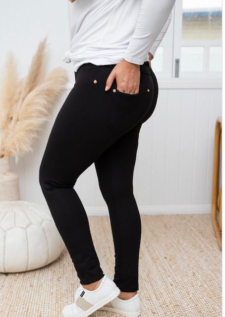 Black Ponti Pants - 16