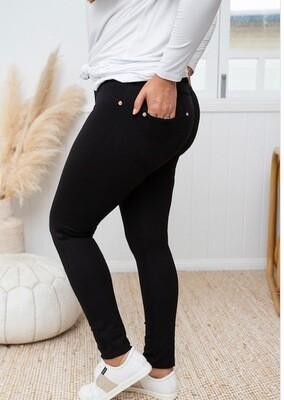 Black Ponti Pants - 10