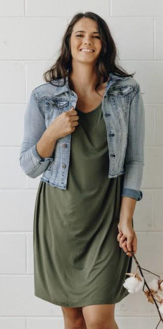Frayed Denim Jacket - XL (Size 12 - 14)