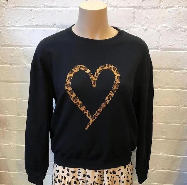 Leopard Heart Sweater - 12