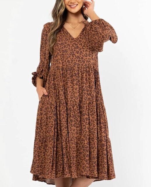 Helena Leopard Dress - 14