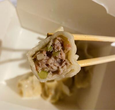 蟹柳芹菜鲜肉水饺 (50)Pork with Celery Dumplings