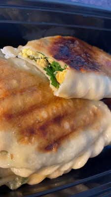 韭菜盒子(2)Chive&Egg Pancakes