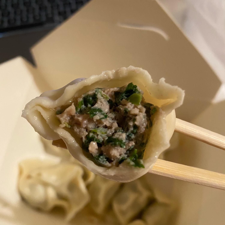 荠菜鲜肉水饺 Pork With Capsella