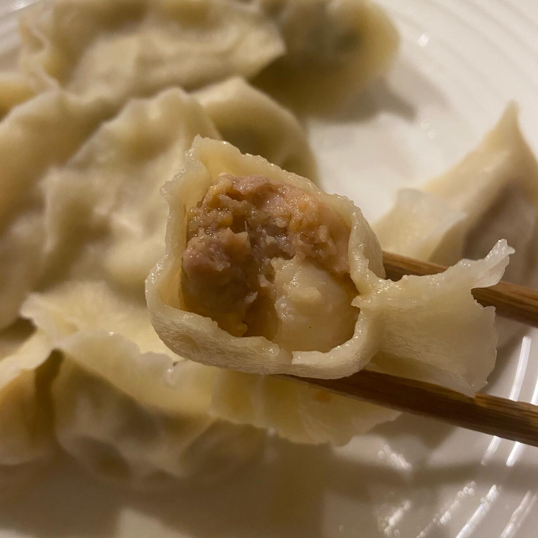 干贝鲜虾水饺(50)Scallop&Shrimp Dumplings