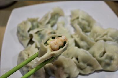 素三鲜水饺(50)Chive Egg&Shrimp Dumplings