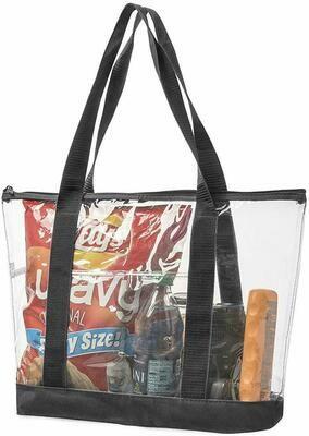 Large Clear Vinyl Tote Bag
