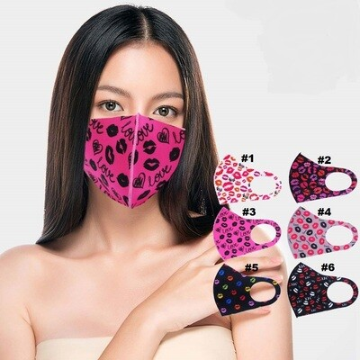 LIPS PRINT FASHION MASK