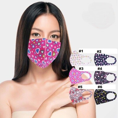 HEART PRINT FASHION MASK