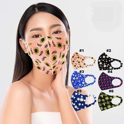 FLOWER PRINT FASHION MASK