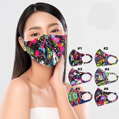 GEOMETRIC PRINT FASHION MASK