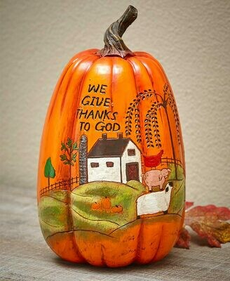 Give Thanks Harvest Country Pumpkin - We Give Thanks to God